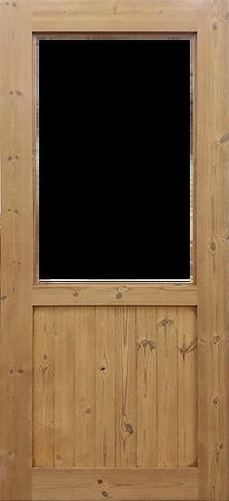 Thermowood Half slot (ประตูไม้เทอร์โมวูด ช่องใหญ่ครึ่งหนึ่ง)