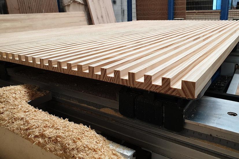 SYP Grooved Wood Board (ไม้อัดประสาน สนSYP ลายเส้นตรง เซาะร่อง)