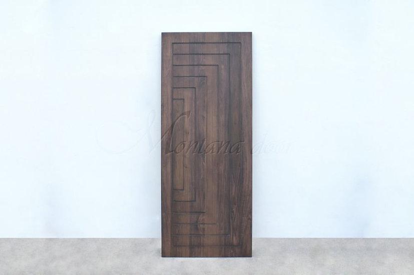 Poplar Door Straight line carving (ประตูไม้ป๊อปล่าร์ เดินร่องย้อมสีโอ๊คดำ)