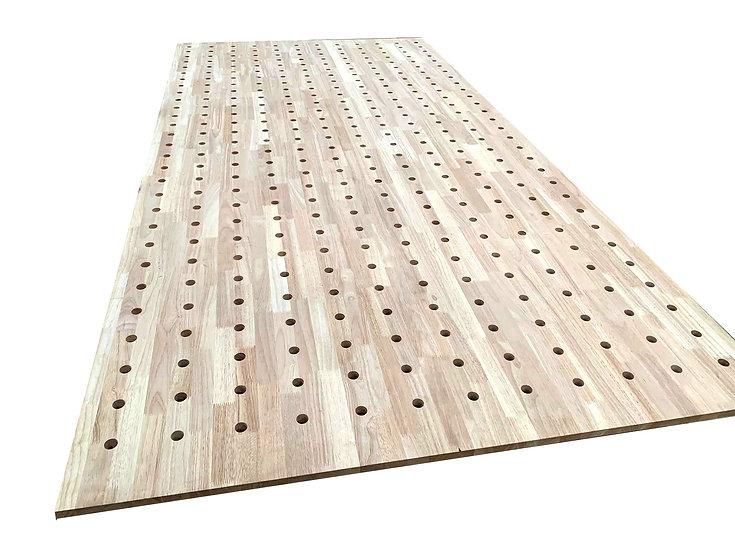 ไม้ยางพารา grade AA Pegboard#1 (Rubber wood Pegboard)