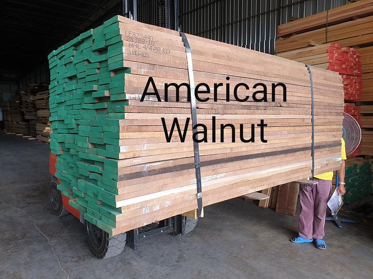 """ไม้ท่อน วอลนัท 1"""" (American Walnut)"""