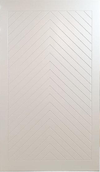 White Door ลายก้างปลา (CNC)