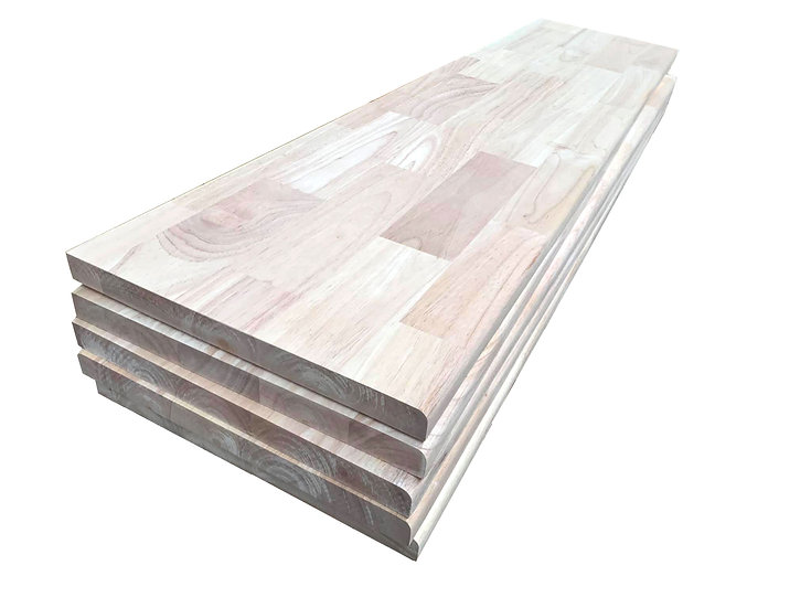 Rubber wood Stair part [Pine core]