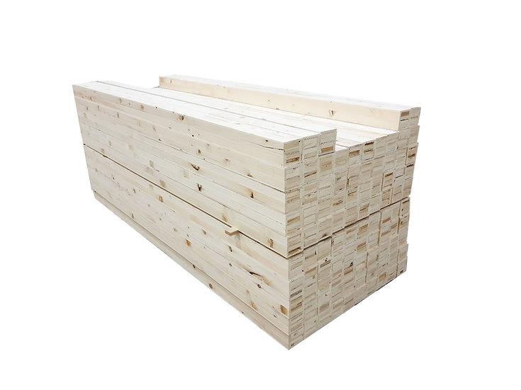 ไม้เสา สนลามิเนต (Laminate Pine 92x92mm. x 2.40m.)
