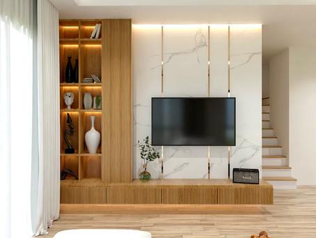 ผลงานออกแบบ ชุดตู้วางทีวี