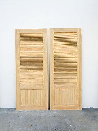 USA pine Louver Door (ประตูไม้สน มีบานเกล็ด)