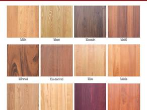 โทนสีและชนิดไม้ ที่นำไปทำเฟอร์นิเจอร์