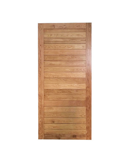 Oak wood Door AB-02 (ประตูไม้โอ๊ค Engineered)