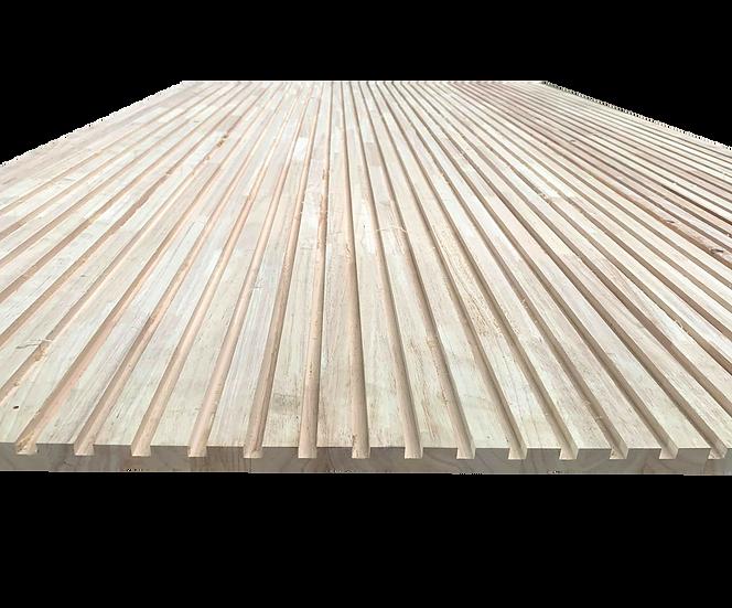 ไม้ยางพารา Grade AA, CNC ร่อง10 เว้น20mm