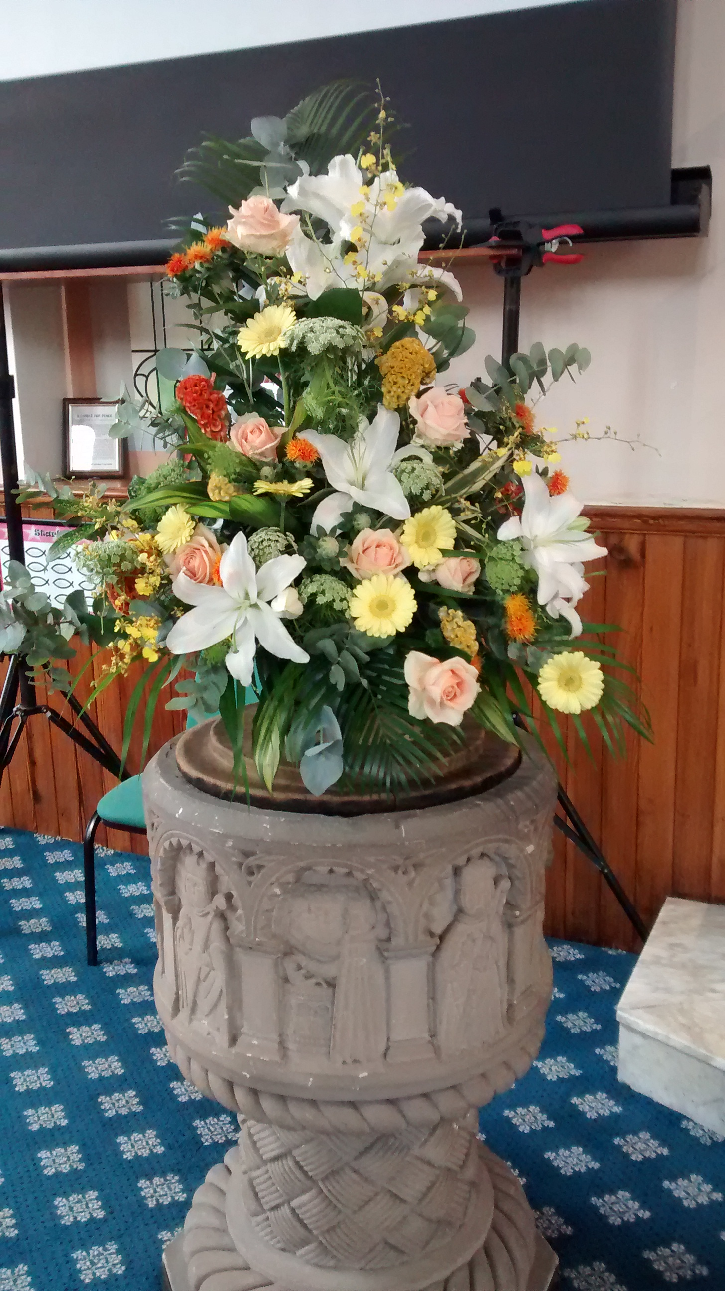 Pedestal Church Display