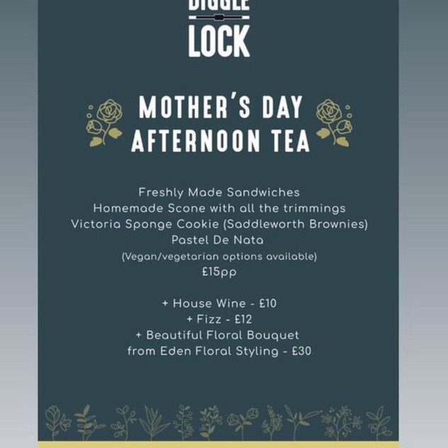 Diggle Lock Mothers Day Afternoon Tea
