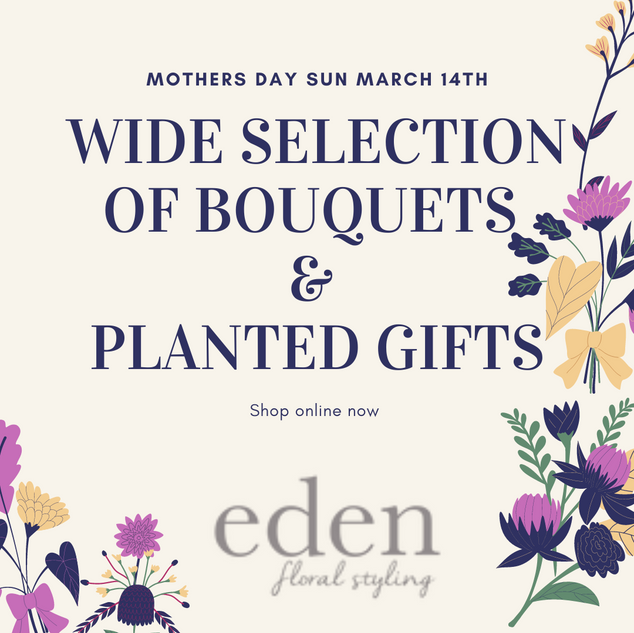 wide selction of planted bouquets and gifts