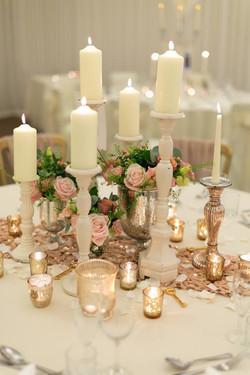 Copper and peach wedding!