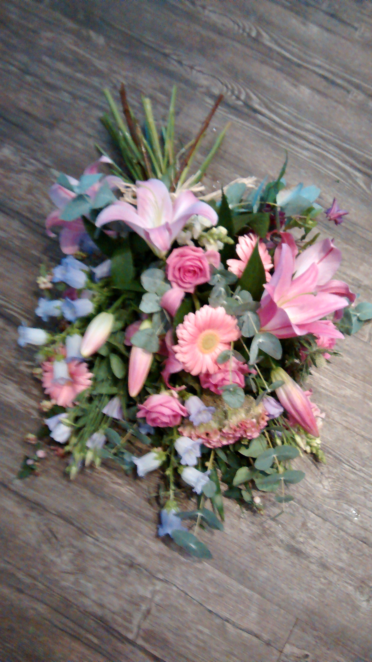 Pink Lily Hand Tied Sheaf
