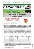 CATACCRAC 35 - NOUS TEMARIS PEL PERSONAL