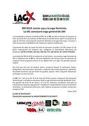 COMUNICAT IAC - 8M VAGA GENERAL FEMINIST