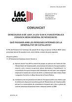 COMUNICAT IAC-CATAC - Mocio Parlament so