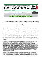 CATACCRAC 2019 - 19 DISTRICTE ADMINISTRA