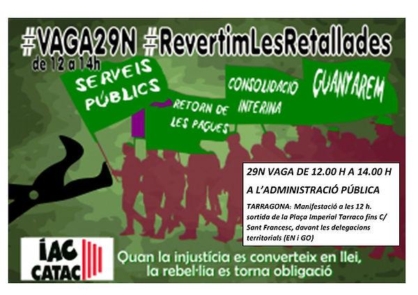 cartell iac catac - vaga 29N-Tarragona.j