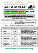 CATACCRAC calendari seleccio FEBRER 2021