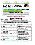 CATACCRAC calendari seleccio GENER 2020.