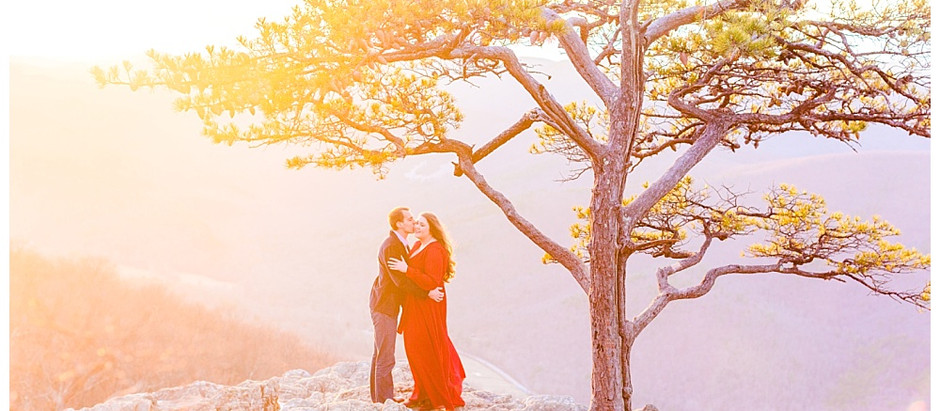 Rachel & Brandon - Virginia Mountaintop Engagement Session