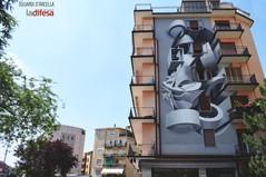 Biennale street art: Peeta sorprende l'Arcella tra illusioni e tridimensionalità