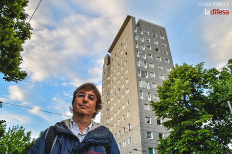 Andrea: «Il futuro dell'Arcella? Un quartiere multietnico e fulcro d'arte come Berlino»