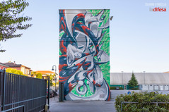 Biennale street art: Made514 dipinge due muri negli spazi dei Rogazionisti