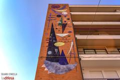 Ricorda l'arte di Kandinskij ma ha una storia tutta sua: curiosità sull'opera che si affaccia alle porte dell'Arcella
