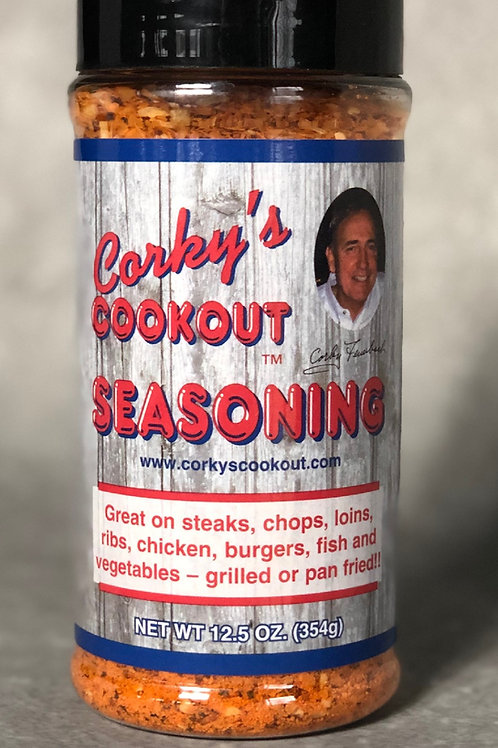 Case of 12 - Corky's Cookout 12.5 oz Seasoning