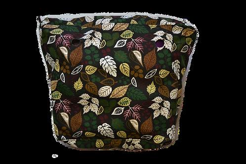 Подкладка темная с листьями