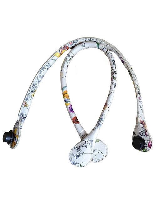Ручки разноцветные белые экокожа