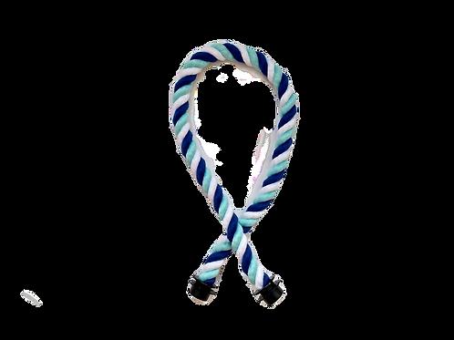 Ручки-трос комбинированные синие с белым