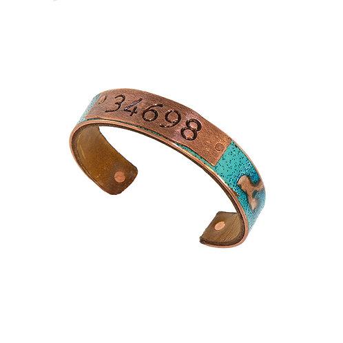 34698 Zip Code Bracelet Turquoise