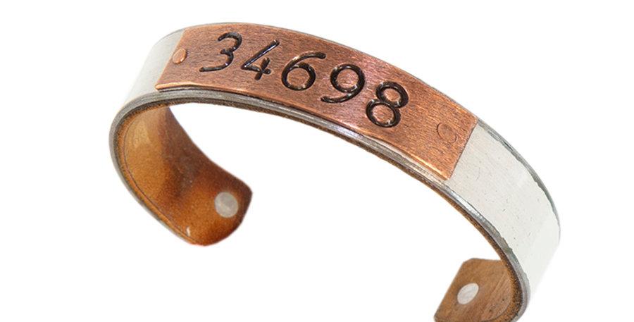 34698 Zip Code Bracelet White