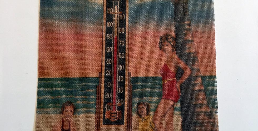 Burlap Thermometer Print