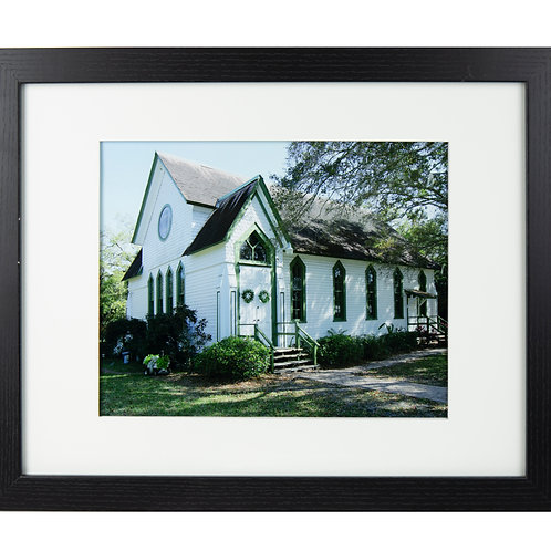 Framed and matted Andrews Chapel Print
