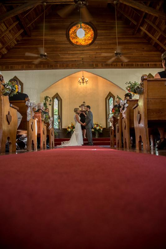 At the altar...