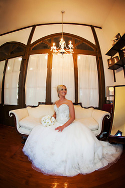 Victorian sofa in our Bridal Suite