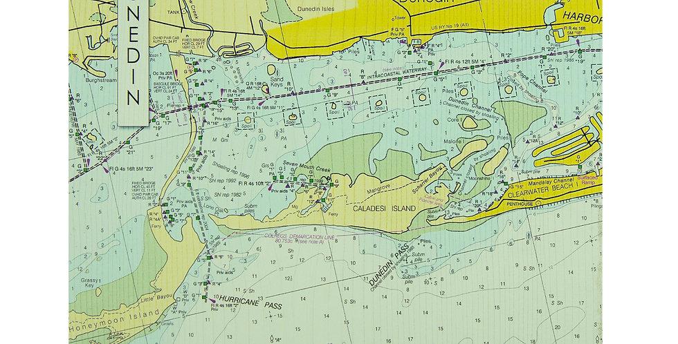 Wooden Wall Map of Dunedin - 12x12