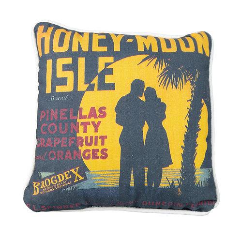 "Honeymoon Island Pillow - 11"" X 11"""