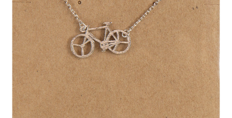 Bicycle Necklace Silver