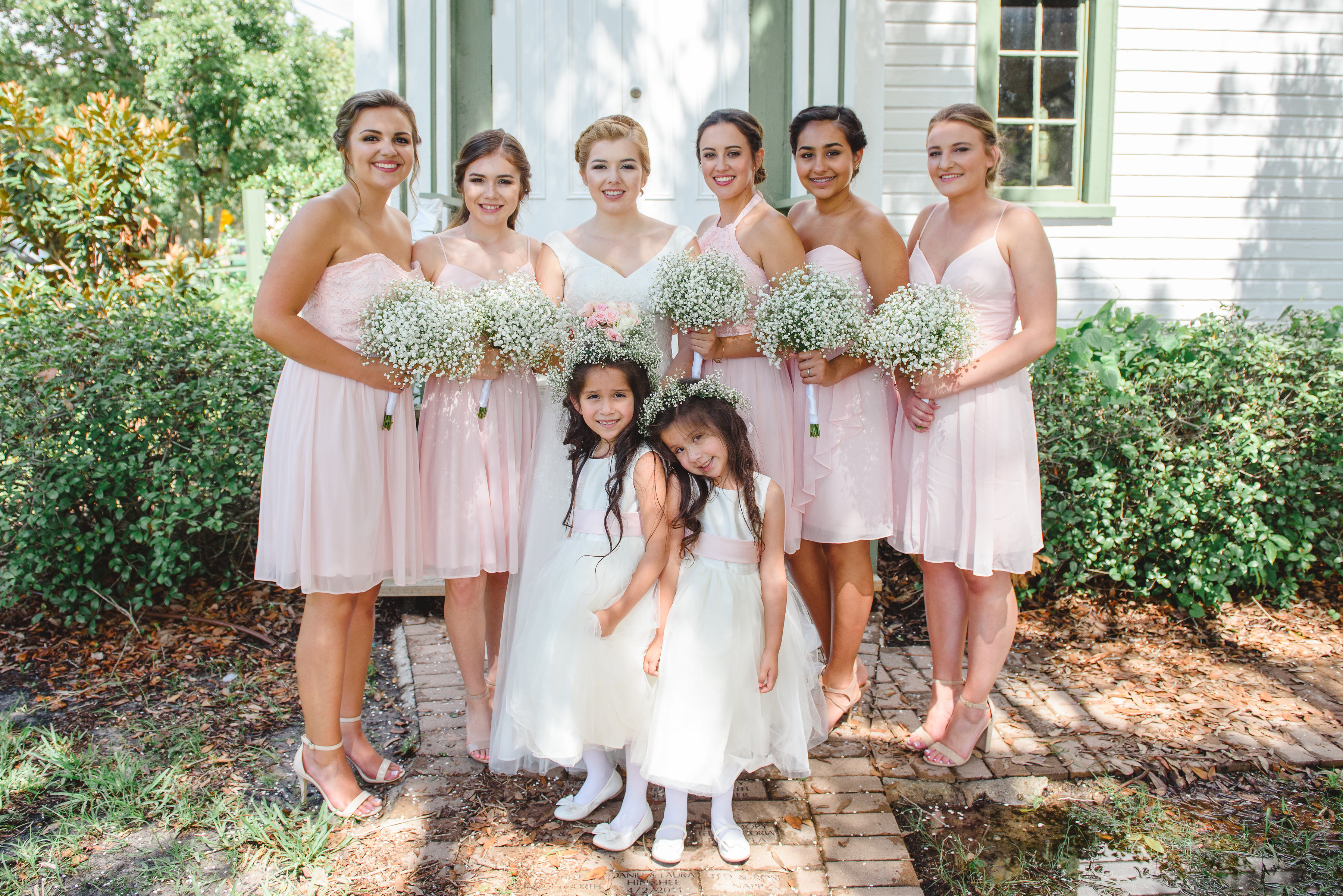 Beautiful Blush Bridal Party