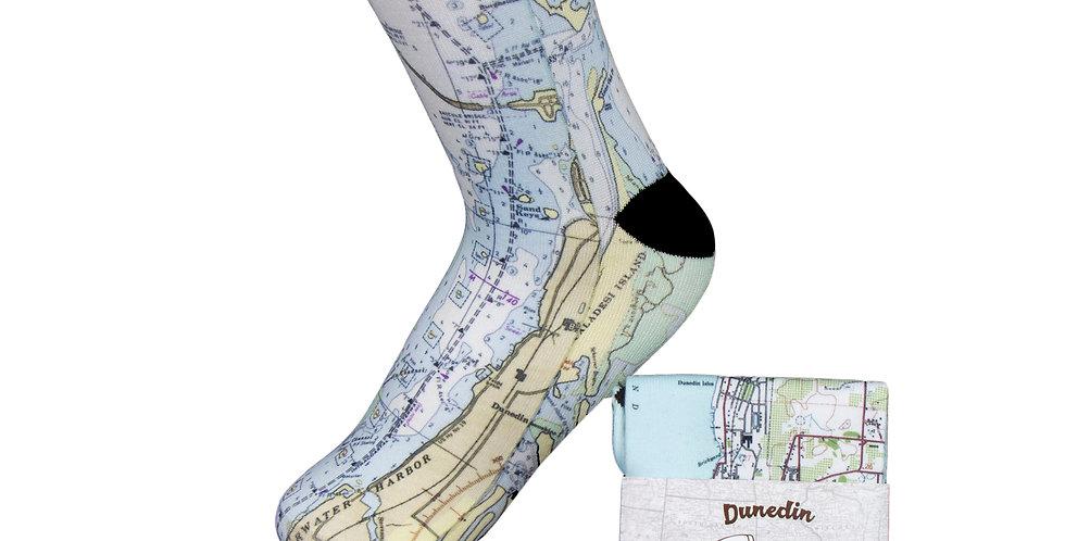 Dunedin Map Socks