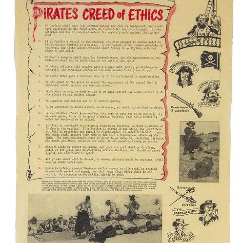 """Pirate's Creed - 14"""" X 16"""""""