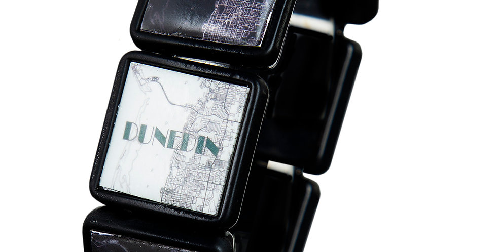 Dunedin Map Bracelet - Black
