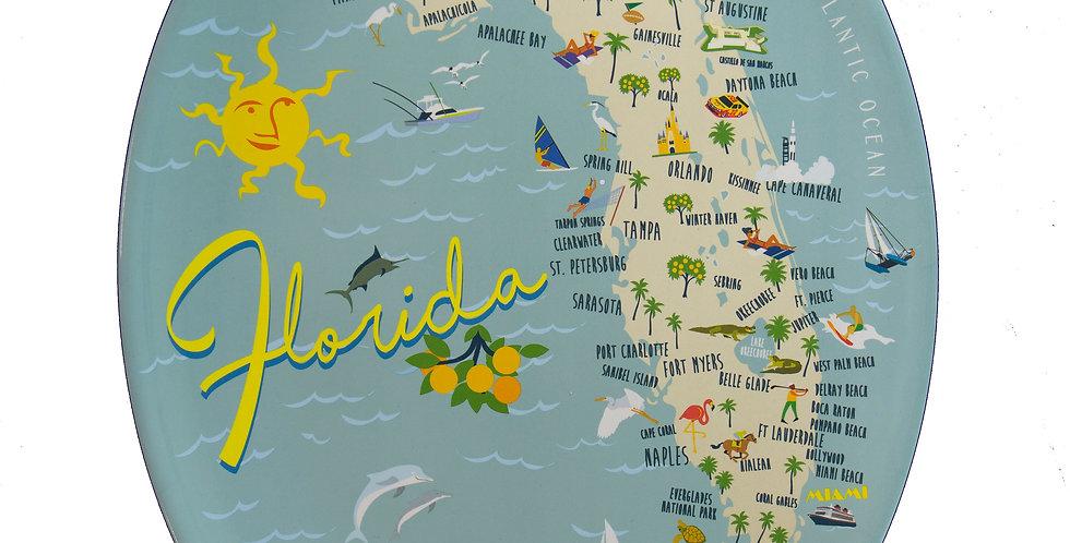 Florida Map Large Platter