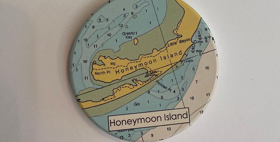 Honeymoon Island Coaster