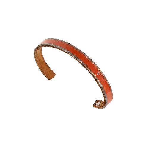 """1/4"""" Burnt Orange Stackable Bracelet"""